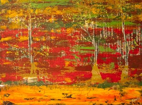 Forest Series, 2009, acrylic on canvas, 102x78cm