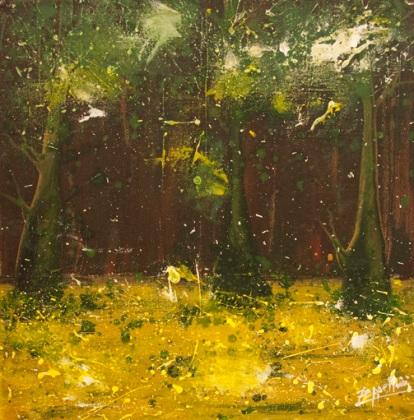 Forest series,2009,acrylic on canvas, 40x40cm