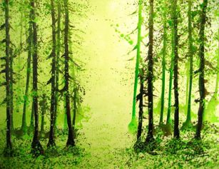 Forest Series, 2008, acrylic on canvas, 102x78cm
