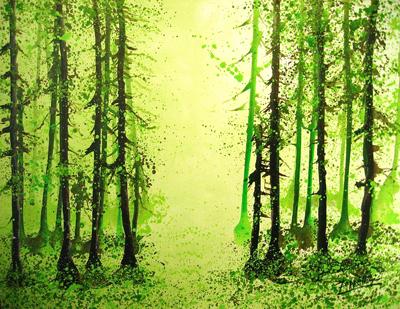 Forest Series, 2008, acrylic on canvas, 102x78cm