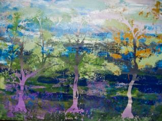 Forest, Series, 2009,Acrylic on canvas, 102x78cm