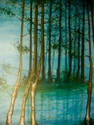 """Forest Series"", 2008, acrylic on canvas, 105 x 78cm"
