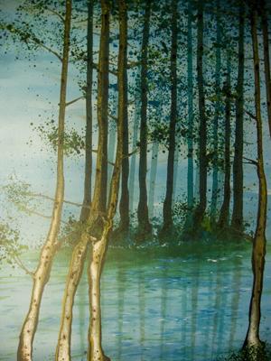 """Forest Series"", 2008, acrylic on canvas, 105 x 78cm"