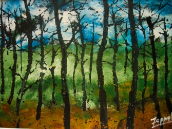 """""""Forest Series"""", acrylic on paper, 30x20cm"""