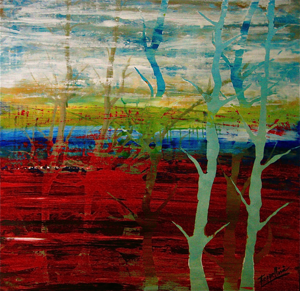 Hazily Thoughts, 2008, Acrylic on canvas, private collection