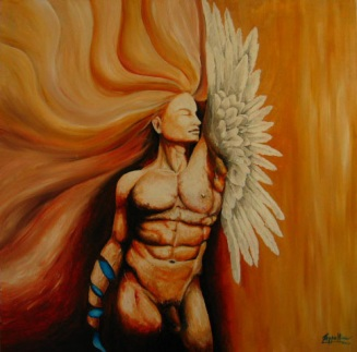 Angelicus, 2003, acrylic on canvas, private collection