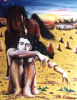 The Dream, 1991, acrylic on canvas, 100cm x 70cm, private collection