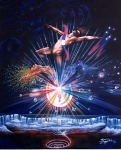 Creation, 1989, acrylic on canvas, 1mx1.50m