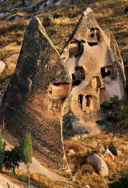 Cave houses, Nevsehir, Central Anatolia, Turkey