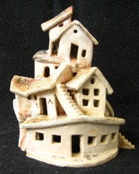 Endeavour ceramic, under glaze and oxides, 14 x 8 x 6 cm