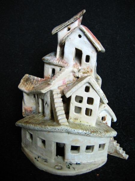 Endeavour, ceramic, under glaze and oxides, 15 x 10 x 9 cm
