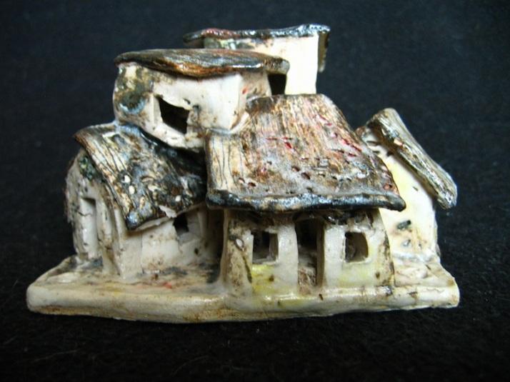 Endeavour, ceramic, under glaze and oxides, 15 x 9 x 12