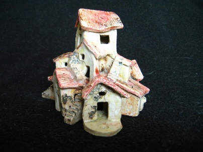 Endeavour, ceramic, under glaze and oxides, 10 x 11 x 10